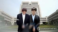 チョン・ジュニョン被告(左)とチェ・ジョンフン被告=(聯合ニュースTV)