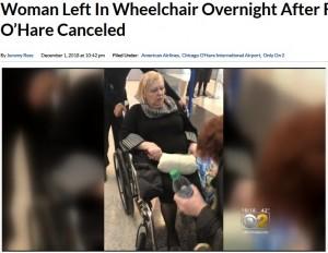 [画像] 【海外発!Breaking News】アメリカン航空、車椅子の高齢女性を空港ロビーに一晩放置(米)