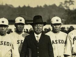 米国から持ち帰った野球技術を日本に広めた安部磯雄(提供・野球殿堂博物館)