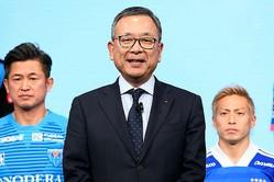 Jリーグの村井チェアマンのコメントも併せて発表された。写真:金子拓弥(サッカーダイジェスト写真部)