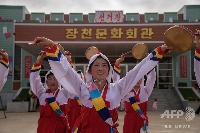 [画像] 投票率99.98% 北朝鮮で地方選、正恩氏も一票投じる