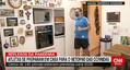 自宅でマラソンに挑戦する医師のアウメイダ氏=ブラジル・サンパウロ(CNNブラジルのサイトより)