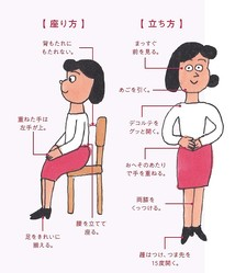 """""""できる""""女性に見える! 「正しい立ち方&座り方」"""