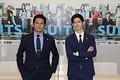 ドラマ『SUITS/スーツ2』取材会に出席した織田裕二&中島裕翔