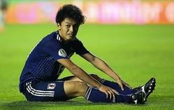 上田は何度も決定機を得るも、決め切れず悔しさを口にする。それでも収穫も見えたという。(C)Getty Images