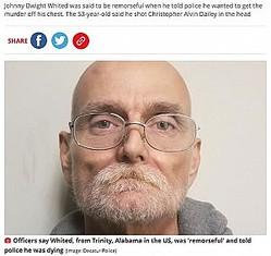 末期がんの男が犯行を自白(画像は『Mirror 2020年11月21日付「Dying man confesses in phone call to police about committing grisly murder 25 years ago」(Image: Decatur Police)』のスクリーンショット)