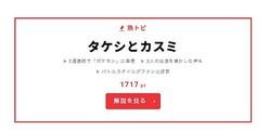 """9月21日""""視聴熱""""デイリーランキング 熱トピでは、ポケモンのタケシとカスミをピックアップ!"""