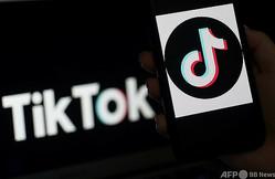 動画共有アプリ「ティックトック(TikTok)」のロゴ(2020年4月13日撮影)。(c)Olivier DOULIERY / AFP