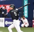 SB柳田悠岐が衝撃の二塁打、丸佳浩の予測を裏切り球場ざわめく