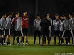 千葉県内で合宿中の日本代表